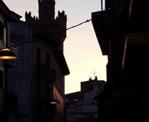 Atardecer en Ejea de los Caballeros (Zaragoza)